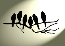 Shabby chic Stencil  Group Birds Rustic tree Vintage style A4 297x210mm Mylar