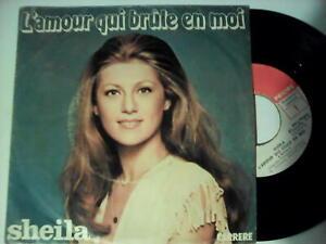 "Sheila 45 tours  ""Made in Madagascar"" L'AMOUR QUI BRULE EN MOI"