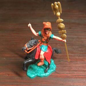 "Timpo Mounted Roman - ""Bearskin"" Standard Bearer - Ancient Rome - 1960's"