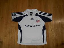 Adidas White NEW ENGLAND REVOLUTION MLS Soccer Jersey Kit Kids Medium
