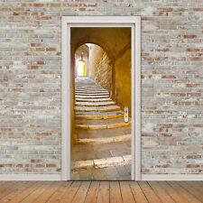 3D Vintage Stone Steps Door Wall Sticker Waterproof Self-Adhesive Wallpaper