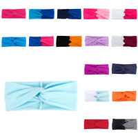 Gift Headband Turban Twisted Knotted Elastic Women Yoga Sport Floral Hair Band