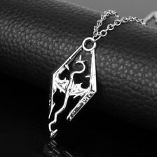 ** ** The Elder Scrolls V Skyrim Dragon Colgante Collar & * Excelente Regalo Reino Unido Stock