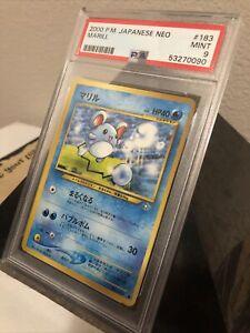 PSA 9 - Marill / Pikablu - Neo Genesis - Japanese Mint  #183 2000 Pokemon