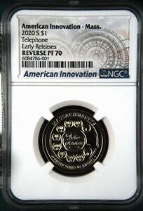 2020 S REVERSE PROOF American Innovation Dollar Massachusetts - NGC PF70 ER
