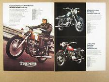 1972 Triumph Bonneville Tiger 650 Daytona 500 Trident 750 motorcycles vintage Ad