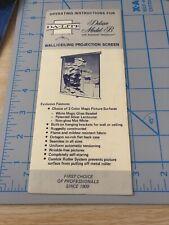 Vintage DA-LITE MOVIE PROJECTOR SCREEN  Dealer Brochure PAMPHLET