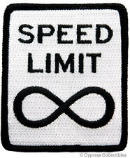 NO SPEED LIMIT embroidered PATCH BIKER MOTORCYCLE ROAD SIGN iron-on
