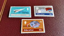 GIBRALTAR 1981 SG 454-456 50TH ANNIV OF AIRMAIL SERVICE MNH