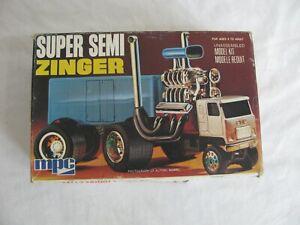 Vintage MPC Wild Super Semi Zinger #1-1656 Parts / Restore