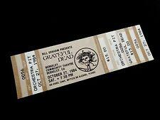 Grateful Dead Ticket Bertha Berkeley Community Theatre BCT 10/27/1984 CA 84 '84