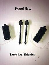 2 4 pc Set New Inner Tie Rod   2 boots 1991 1992 1993 1994 1995 Acura Legend