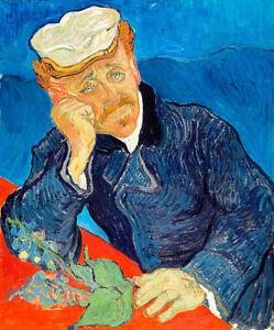Dr Paul Gachet by Vincent van Gogh 75cm x 62.4cm High Quality Canvas Print