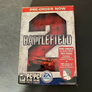 RARE Pre-order Box for Factory sealed Battlefield 2 (PC, 2005)