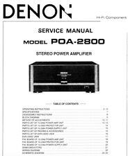 DENON POA-2800 Schematic Diagram Service Manual