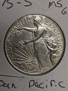 UNCIRCULATED 1915-S PANAMA PACIFIC COMMEMORATIVE HALF DOLLAR 50c