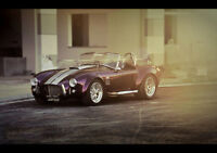 "AC SHELBY COBRA NEW A1 CANVAS GICLEE ART PRINT POSTER FRAMED 33.1""x23.4"""