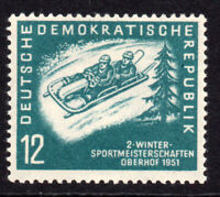 East Germany 12pf Sports Stamp c1951 Unmounted Mint Never Hinged (7695)