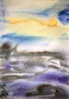 Malerei PAINTING zeichnung Margarita Bonke Landscape Landschaft art Aquarell A3