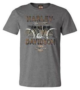 Harley-Davidson Men's Historic Pride Short Sleeve Crew-Neck Graphic Tee - Gray
