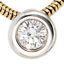 NEU Schlangenkette Diamant Anhänger 585 echt Gold Gelbgold Brillant 14 Karat