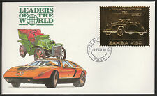 Zambia (400) 1987 Classic Cars - OPEL in 22k gold foil on First day Cover