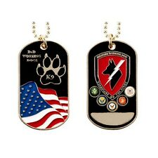 DOG TAG CHAIN K9 Canine DOD MILITARY WORKING DOGS Guardians of the Night
