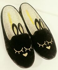 MARC JACOBS Women's SLEEPING BUNNY Brown Velvet Slippers Flats Size 7 *MINT*