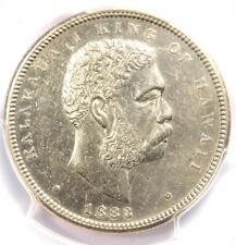 1883 Hawaii Kalakaua Half Dollar 50C Coin - Certified PCGS AU Details - Rare!