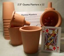 Oyama Planter 2 ½ � brown plastic self watering pots African violet Set of 12