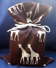 GIRAFFE WILDLIFE NEW FABRIC TISSUE BOX COVER DOOR STOP SANDRA COEN SEWING