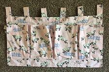 Nick & Nora Hanging Organizer Closet Wall Crib Pockets Count Sheep Pink Canvas