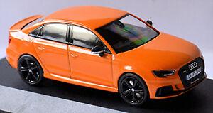 Audi RS3 Berlina 2017-18 Solare Arancione Metallizzato 1:43 I-Scale