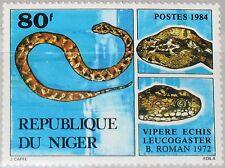 NIGER 1984 899 666 Vipere Echis Leucogaster Schlange Snake Kriechtier Fauna MNH