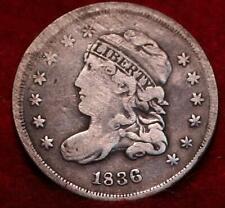 1836 Philadelphia Mint Silver Capped Bust Half Dime
