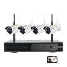 4CH CCTV HD720P Inalámbrica Sistema de Cámara de seguridad IP de Vigilancia 1TB