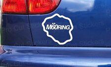75mm (7,5 cm) Sticker autocollant Ring M60 Graphique Vinyle Drôle Voiture Jdm Dub VW Euro Rat