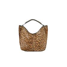 Ralph Lauren Purple Label Haircalf Leopard Chain Hobo Bag New $3250