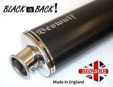 BMW R1200 GS GSA (13-18) Stainless Steel Oval Black Silencer Exhaust Beowulf