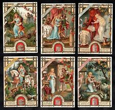 The Brother & Sister Bros Grimm Fairy Story Victorian Liebig Card Set 1900 Deer