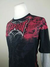 Tapout Mens M Black Long Sleeve Shirt Out Train Out Last Out Skill