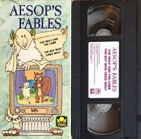 AESOPS FABLES (VHS) golden book video THE BOY WHO CRIED WOLF / Wolf & Lamb ANIME