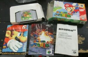 SUPER MARIO 64 Video Game NINTENDO 64 N64 w BOX Manual and Other Inserts USED