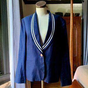 LAUREN Ralph Lauren Nacy Striped Sailor Jacket Blazer 12