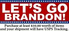 Let's Go Brandon Bumper Sticker - Stars Version Various Sizes Sticker or Magnet