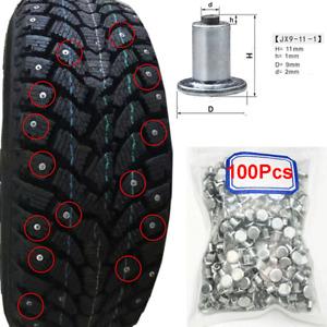 100pcs Car SUV Tires Studs Screw Snow Spikes Wheel Tyre Anti-Slip Chain JX9-11-1