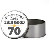 70th Birthday 1949 Keepsake Novelty Funny Tin Gift Box Present Idea Men & Women