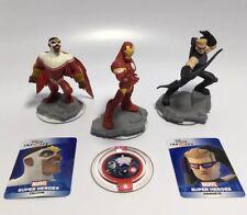 Disney Infinity Ironman Hawkeye Falcon Power Disc Card Marvel Avengers figures
