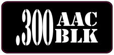 BLACK / WHITE .300 AAC BLACKOUT AMMO CAN LABELS SET OF 4
