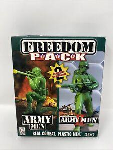 Open Box Army Men: Freedom Pack (PC, 1999) CIB Big Box Game Army Men I & II 1&2